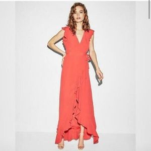NWT Express ruffle maxi dress